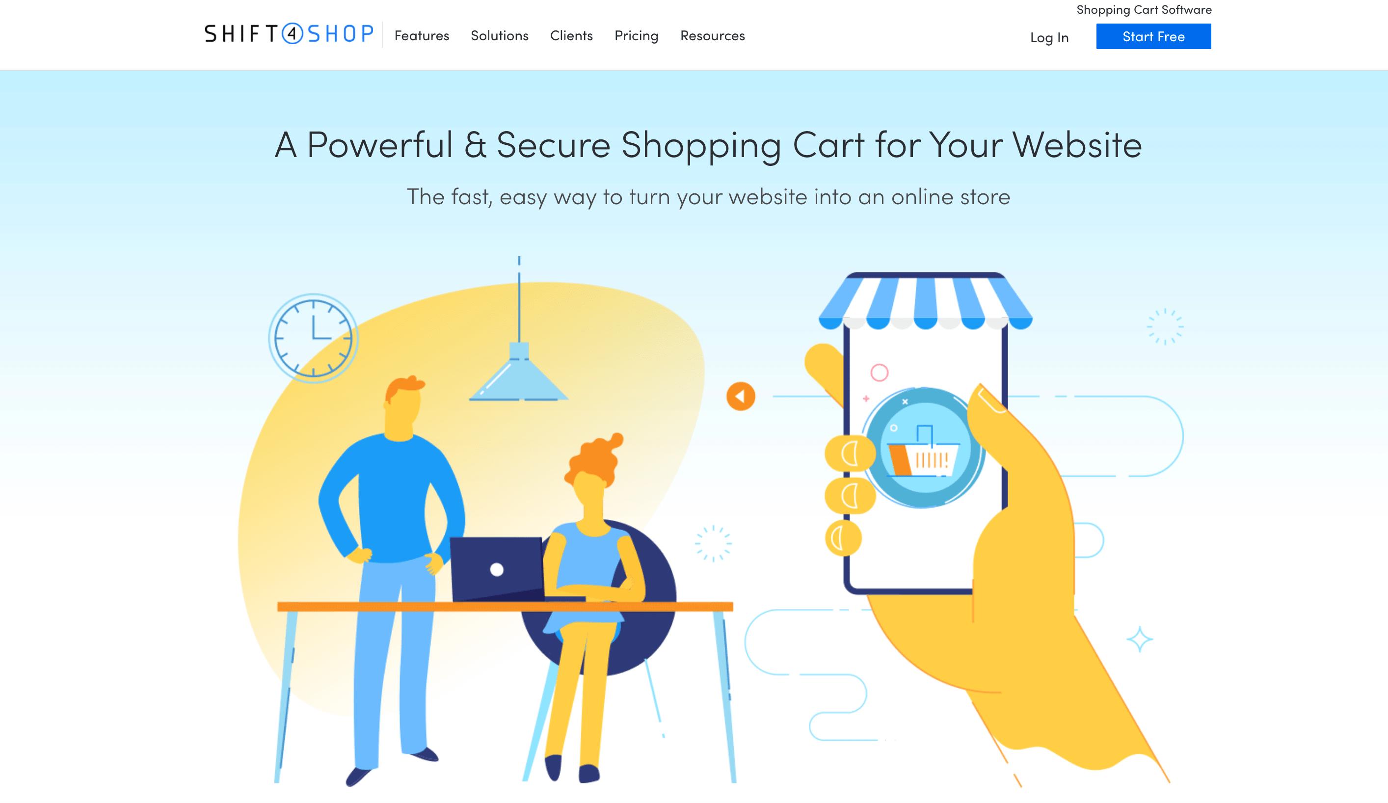 Shift4Shop checkout plus ecommerce software