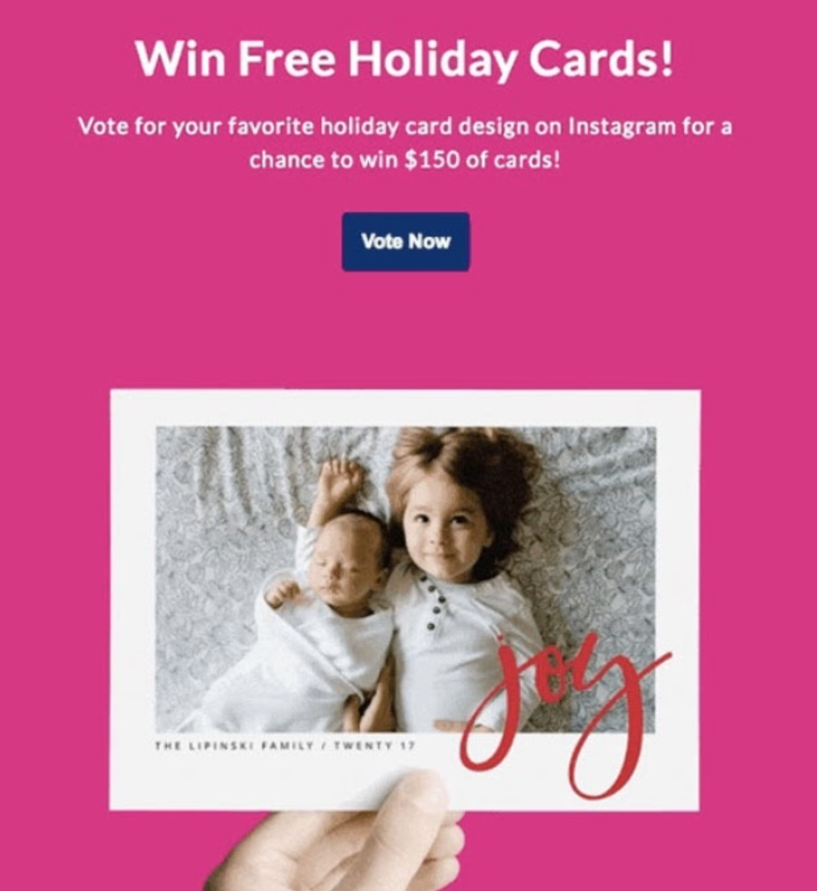 Example of competition to grow an email list