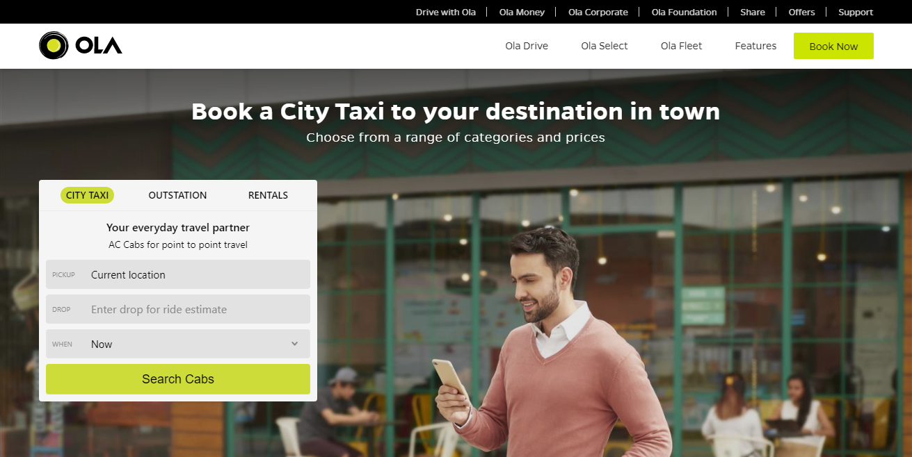 Ola Cabs TOP INDIAN STARTUPS IN 2021 BY VALUATION