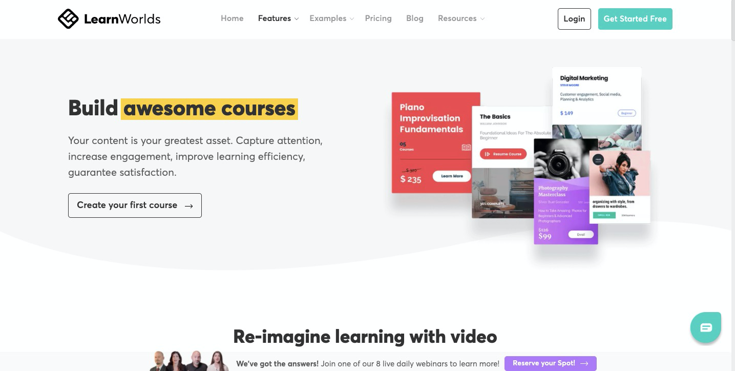 learnworlds features learnworlds vs teachable vs thinkific