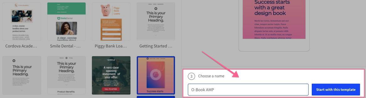 amp name unbounce demo and tutorials