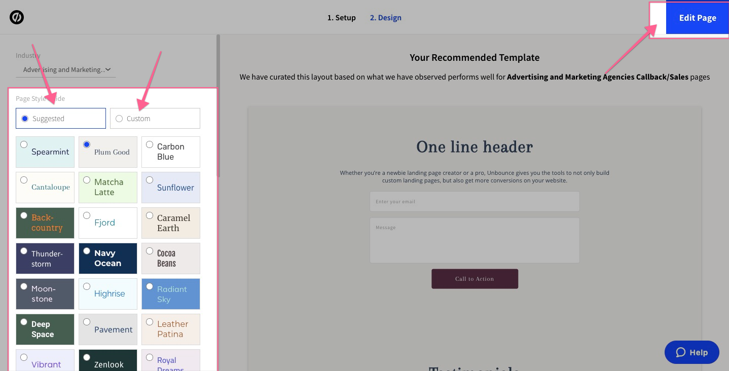 landing page template unbounce demo and tutorials