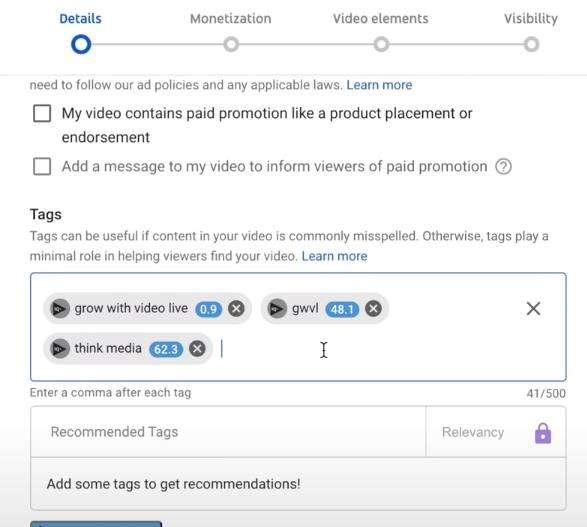 Add video tags