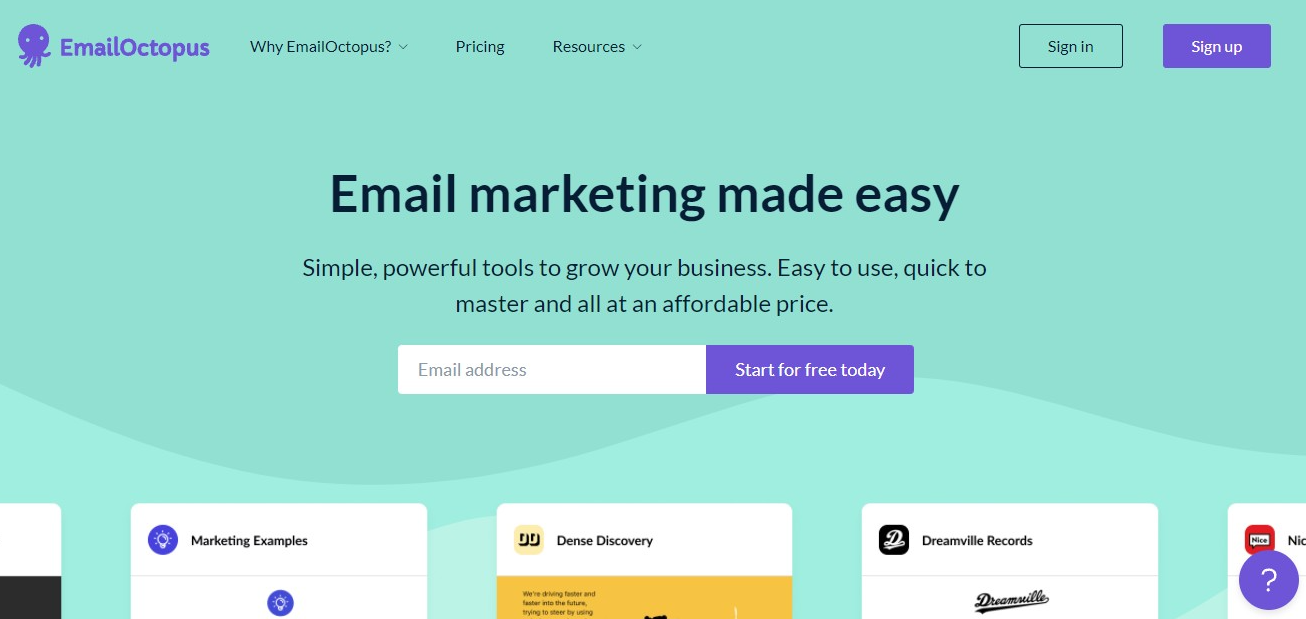 Simple email marketing app