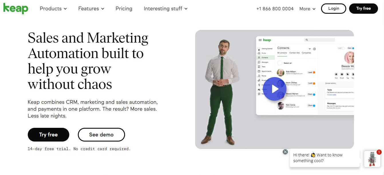 email marketing and sales management tool